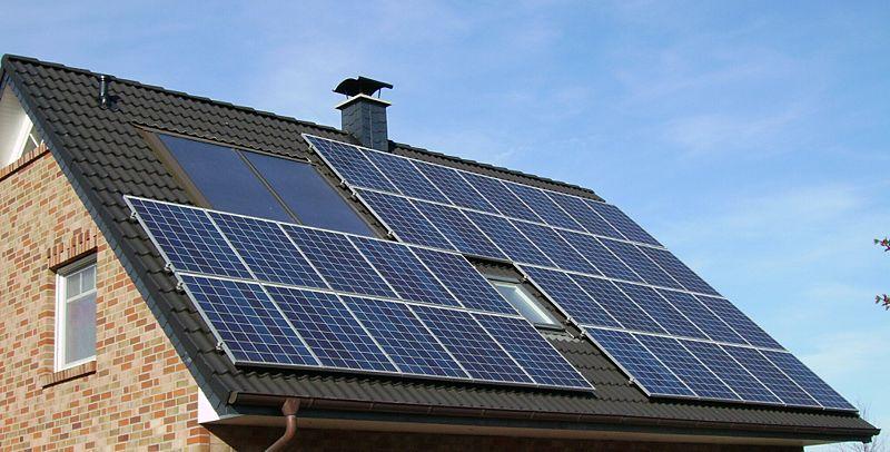 zdjęcie paneli solarnych