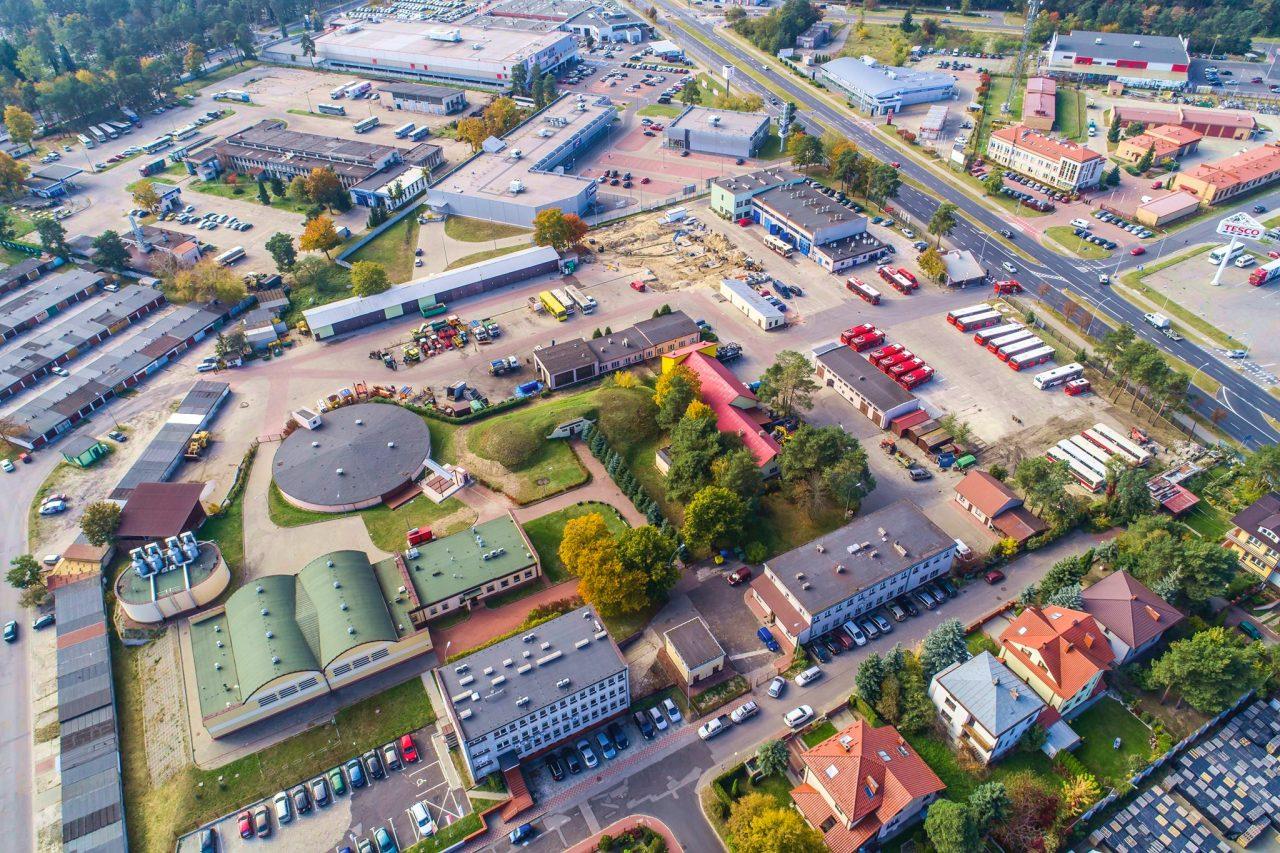 zdjęcie MZK z drona