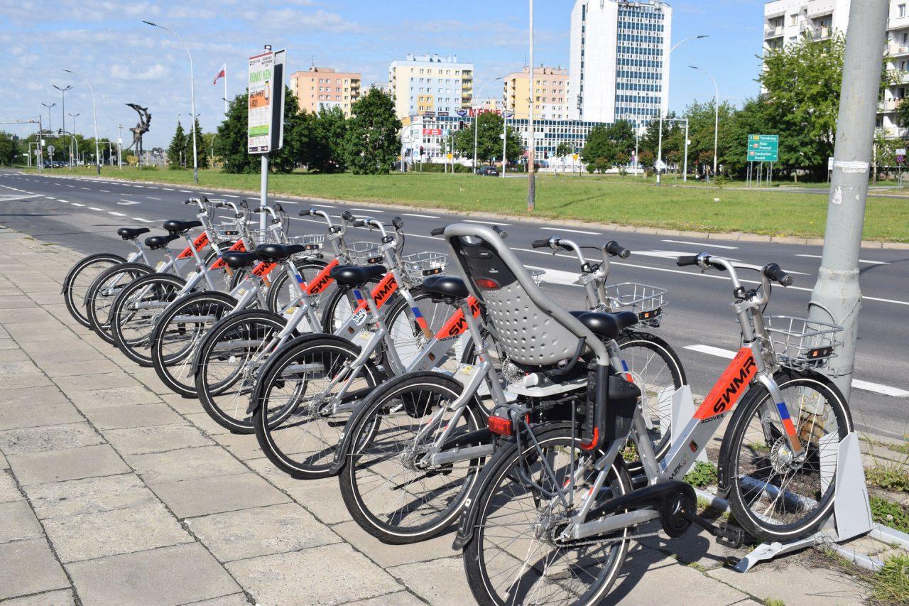 zdjęcie rowerów miejskich
