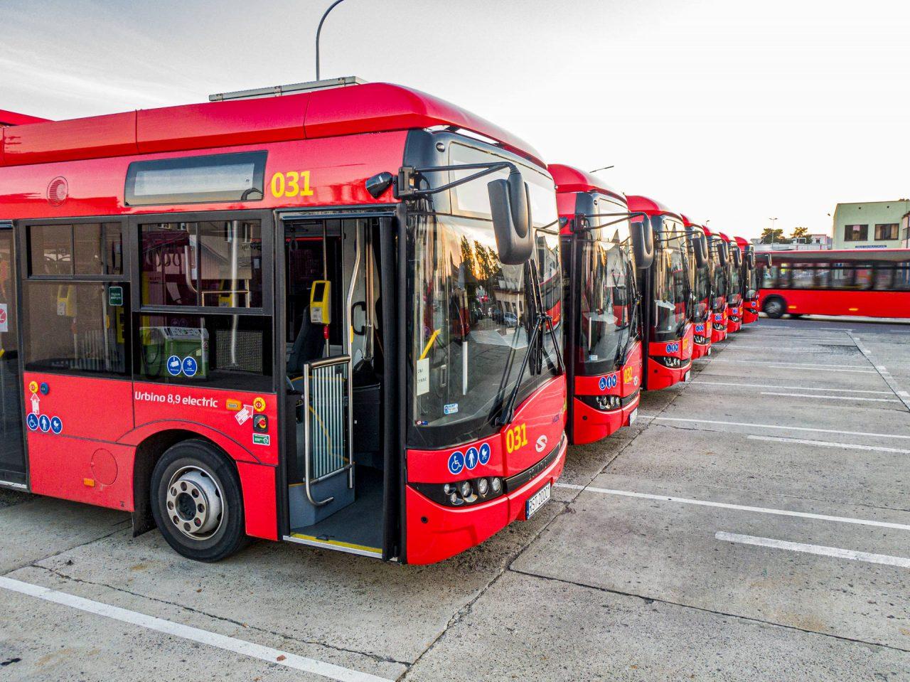 zdjęcie autobusów miejskich